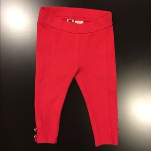 Janie & Jack 12-18m Forever Rose Red Capris